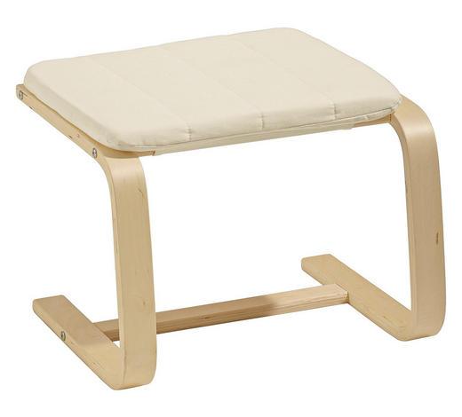 HOCKER in Holz, Textil Creme  - Birkefarben/Creme, Design, Holz/Textil (51/36/45cm) - Carryhome