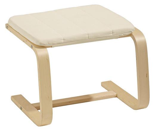 TABURET - krémová/barvy břízy, Design, dřevo/textilie (51/36/45cm) - Carryhome