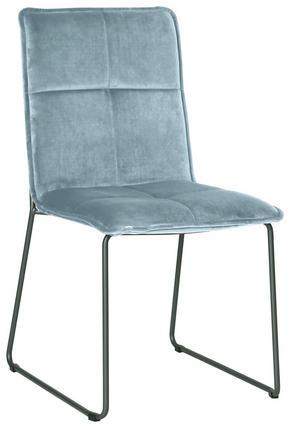 STOL - silver/svart, Design, metall/textil (56/91/58,5cm) - Carryhome