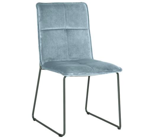 STUHL in Metall, Textil Schwarz, Silberfarben - Silberfarben/Schwarz, Design, Textil/Metall (56/91/58,5cm) - Carryhome