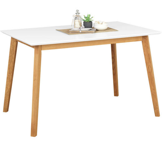 ESSTISCH in Holz, Holzwerkstoff 140/80/75 cm - Eichefarben/Weiß, Design, Holz/Holzwerkstoff (140/80/75cm) - Carryhome