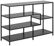 REGAL Schwarz  - Schwarz, MODERN, Holzwerkstoff/Metall (114,0/78,0/35,0cm) - Xora