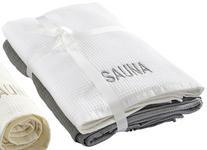 SAUNATUCH 79/180 cm  - Weiß/Grau, KONVENTIONELL, Textil (79/180cm) - Esposa