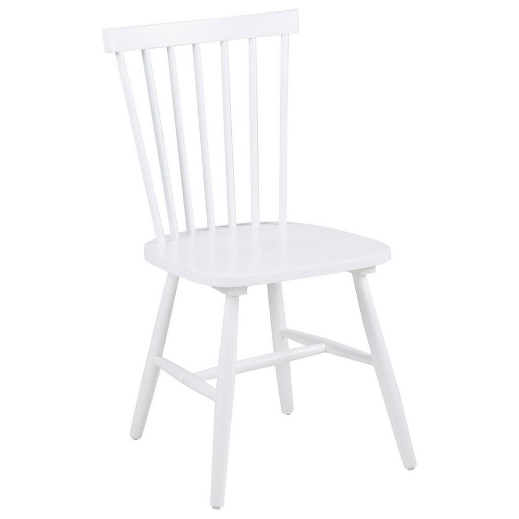 Livetastic Stuhl kautschukholz massiv weiß , Riano , Holz , 49x86x49 cm , lackiert,Echtholz , 001749012801