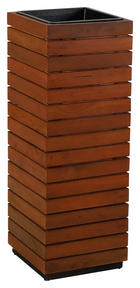 BLUMENSÄULE Holz, Kunststoff Akazie massiv - Akaziefarben, MODERN, Holz/Kunststoff (33,5/94/33,5cm) - Ambia Garden