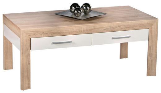 COUCHTISCH Eichefarben - Eichefarben/Weiß, Design (110/50/60cm) - Carryhome