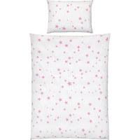 POSTELJNINA ZA DOJENČKE ZVEZDA - roza/bela, Basics, tekstil (100/135cm) - My Baby Lou