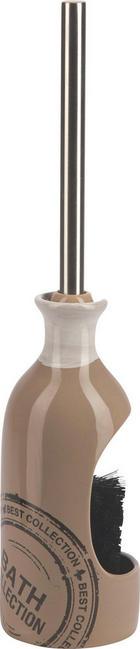 WC SADA - barvy chromu/šedohnědá, Basics, kov/umělá hmota (9/21,7/9cm)