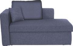 LIEGE in Textil Blau - Blau/Schwarz, Design, Kunststoff/Textil (142/90/87cm) - Novel