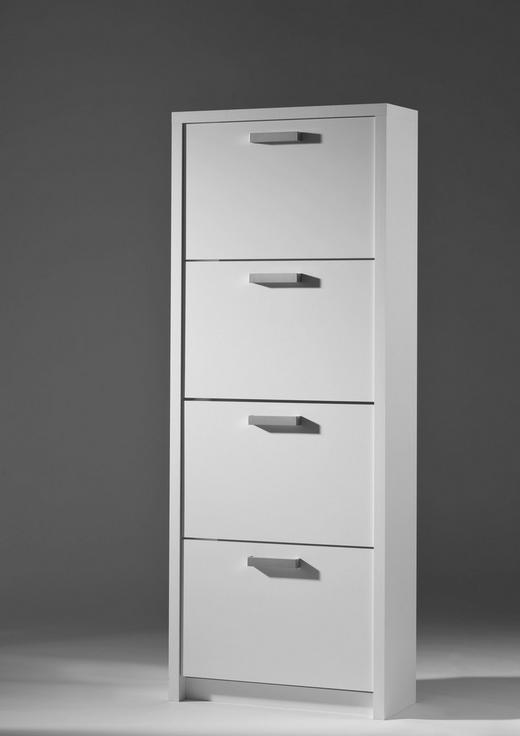 SCHUHKIPPER sägerau Eichefarben, Weiß - Eichefarben/Weiß, Basics (64/164/24cm) - Carryhome