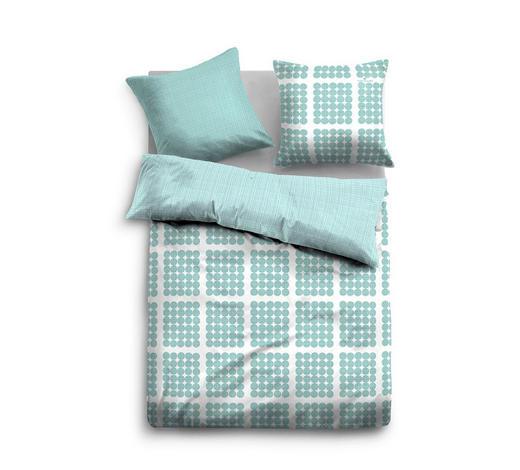 BETTWÄSCHE Satin Weiß, Hellblau 135/200 cm  - Weiß/Hellblau, Trend, Textil (135/200cm) - Tom Tailor