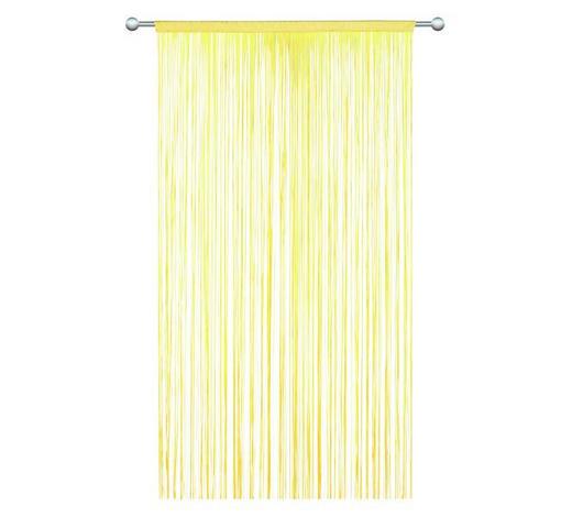 ŠPAGETI ZAVJESA - žuta, Konvencionalno, tekstil (90/245cm) - Boxxx