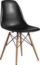 STOL, kovina, les, umetna masa črna - črna, Design, kovina/umetna masa (54/81/47cm) - Novel