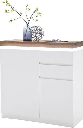 SCHUHSCHRANK Weiß - Eichefarben/Weiß, Design, Holz/Holzwerkstoff (91/97/38cm)