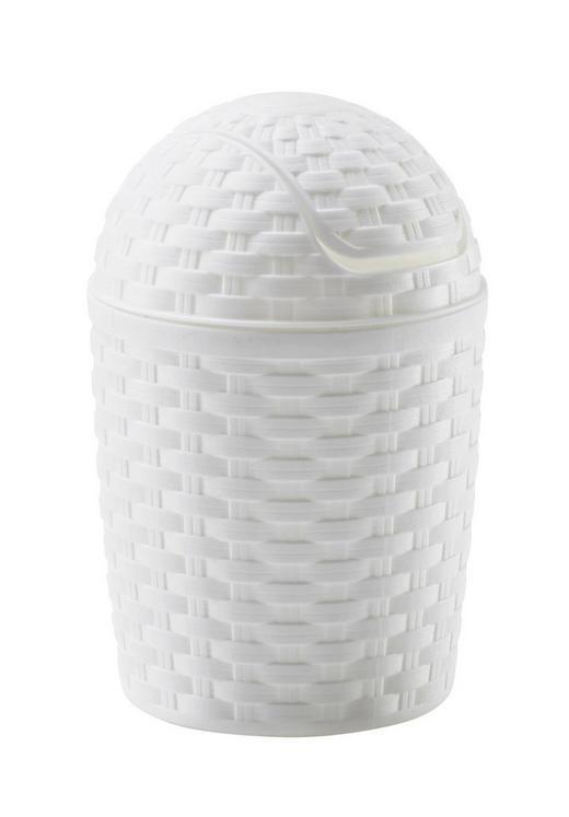 SCHWINGDECKELEIMER 1,2 l - Weiß, Basics, Kunststoff (1,2l)
