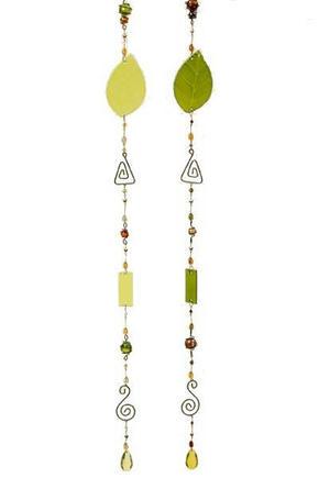 GIRLANG - ljusgrön/grön, Trend, metall/glas (108cm)