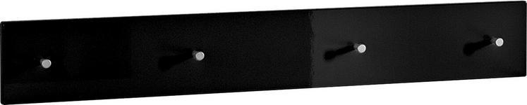 GARDEROBENLEISTE - Schwarz, Design, Holzwerkstoff (106/15/5cm) - Xora