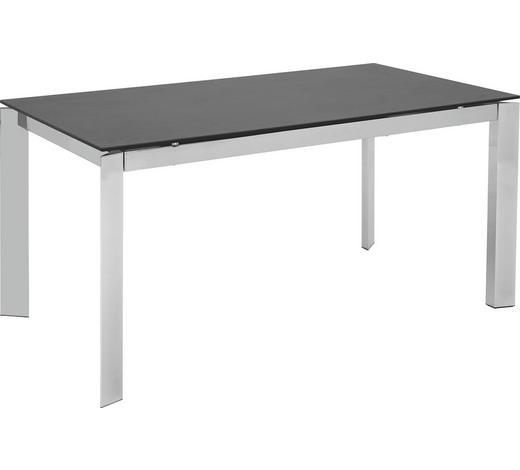 ESSTISCH in Metall, Keramik 160(220)/85/75 cm - Chromfarben/Schwarz, Design, Keramik/Metall (160(220)/85/75cm) - Calligaris