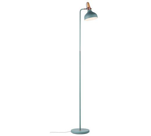 STEHLEUCHTE - Mintgrün/Kupferfarben, Design, Holz/Metall (23/158/40cm)