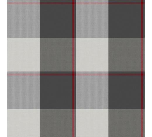 VORHANGSTOFF per lfm - Anthrazit/Rot, LIFESTYLE, Textil (160cm) - Landscape