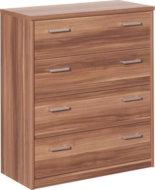 KOMMODE Nussbaumfarben - Silberfarben/Nussbaumfarben, Design, Holz/Kunststoff (72/84/36cm) - CS SCHMAL