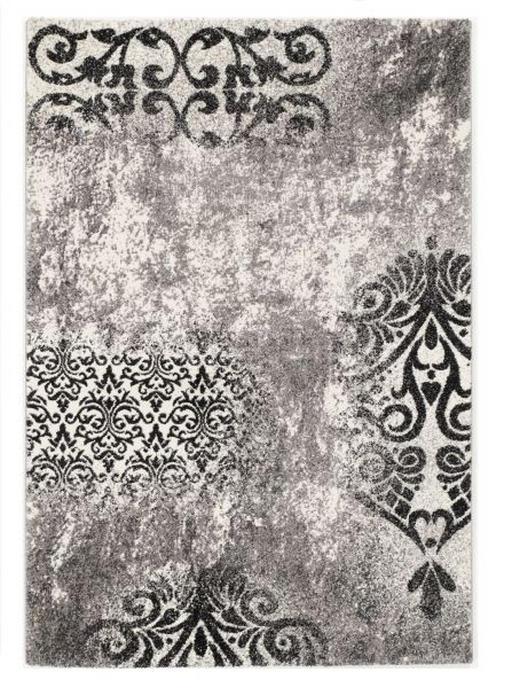 VINTAGE-TEPPICH - Hellgrau, Trend, Textil (65/130cm) - Novel