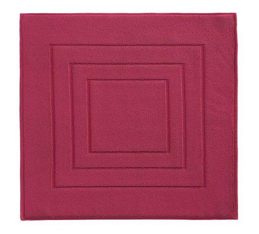 PŘEDLOŽKA KOUPELNOVÁ, 60/60 cm, tmavě červená - tmavě červená, Basics, textil (60/60cm) - Vossen