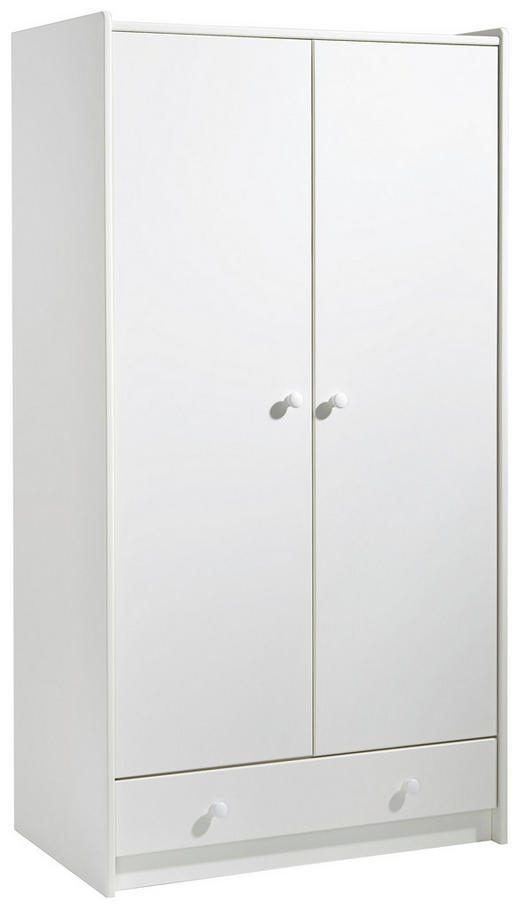 KLEIDERSCHRANK 2-türig Weiß - Weiß, Design, Holz (95/180/58cm) - Carryhome