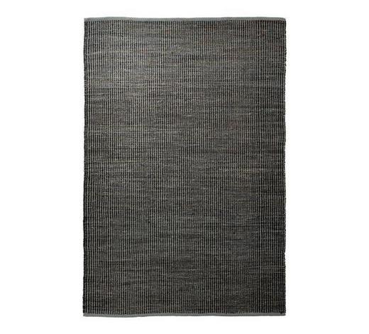 HANDWEBTEPPICH  60/110 cm  Grau, Schwarz   - Schwarz/Grau, KONVENTIONELL, Textil (60/110cm) - Esprit