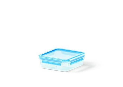 FRISCHHALTEDOSE 0,85 L - Blau/Transparent, Basics, Kunststoff (16.7/16.7/5.9cm) - Emsa