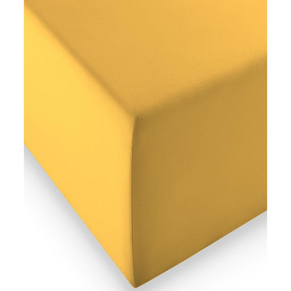 Fleuresse ELASTICKÉ PROSTĚRADLO, žlutá, 200/200 cm - žlutá