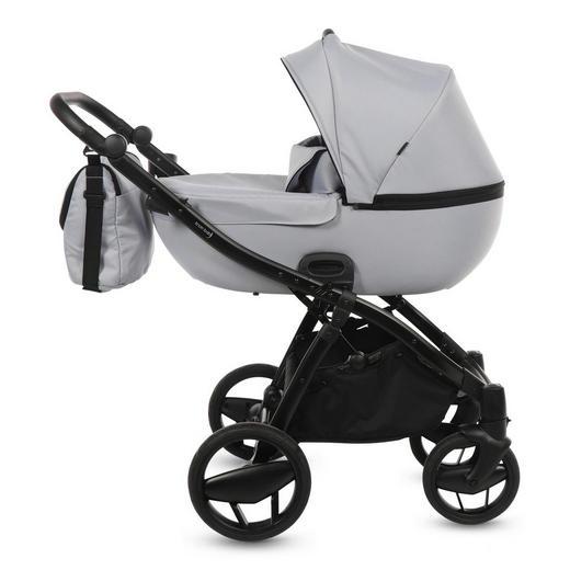 Piquetto Uni  Knorr-Baby Kinderwagenset  Hellgrau - Hellgrau/Schwarz, Basics, Textil/Metall (60/107/110cm)