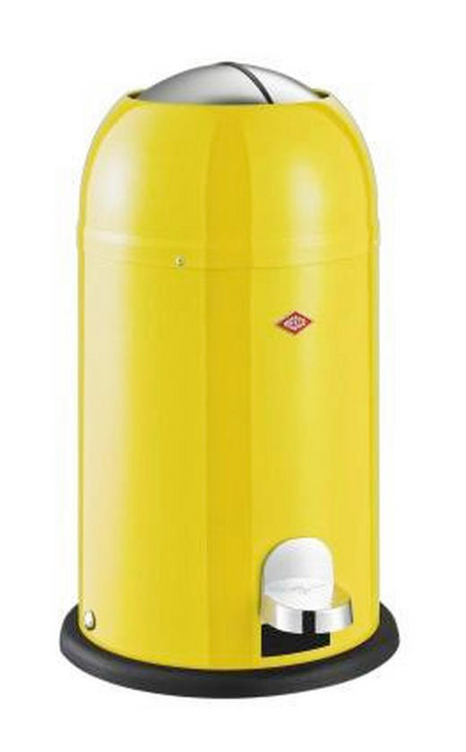 ABFALLSAMMLER KICKMASTER JUNIOR 12 L - Edelstahlfarben/Gelb, Kunststoff/Metall (30/51cm) - Wesco