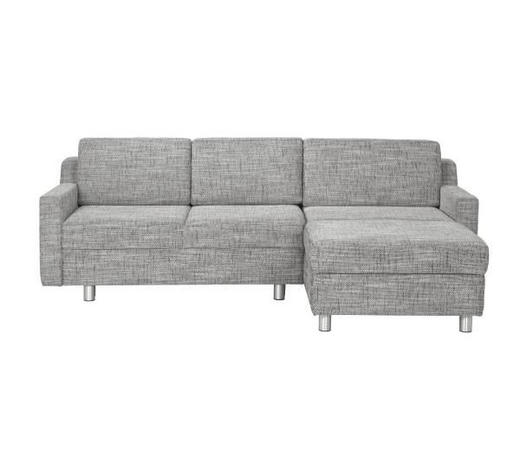 WOHNLANDSCHAFT in Textil Silberfarben  - Silberfarben/Alufarben, KONVENTIONELL, Textil/Metall (236/158cm) - Sedda