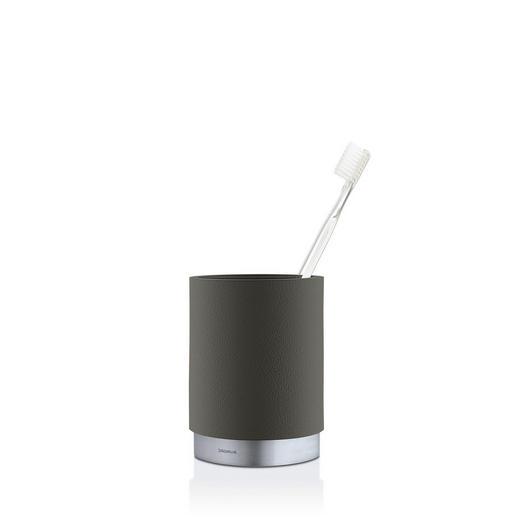 ZAHNPUTZBECHER - Anthrazit, Design, Stein/Metall (8,2/11,5cm) - Blomus