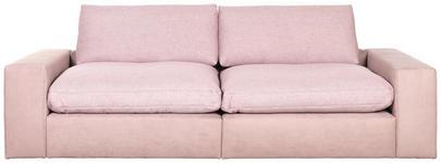 MEGASOFA in Textil Rosa  - Schwarz/Rosa, Design, Kunststoff/Textil (266/84/123cm) - Hom`in
