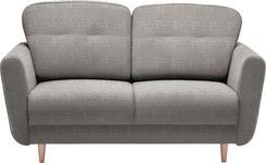 ZWEISITZER-SOFA in Textil Hellgrau - Hellgrau, Design, Holz/Textil (154/90/93cm) - Hom`in