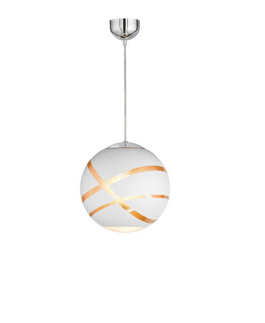 HÄNGELEUCHTE - Chromfarben/Goldfarben, LIFESTYLE, Glas/Metall (30,0/150,0cm)