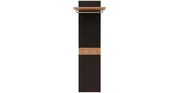 GARDEROBENPANEEL 45-60/187/28 cm  - Dunkelbraun/Buchefarben, Design, Holz/Holzwerkstoff (45-60/187/28cm) - Dieter Knoll