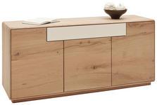 SIDEBOARD Wildeiche massiv gebürstet, lackiert Eichefarben - Eichefarben, Design, Holz (147/67,3/44cm) - Valnatura