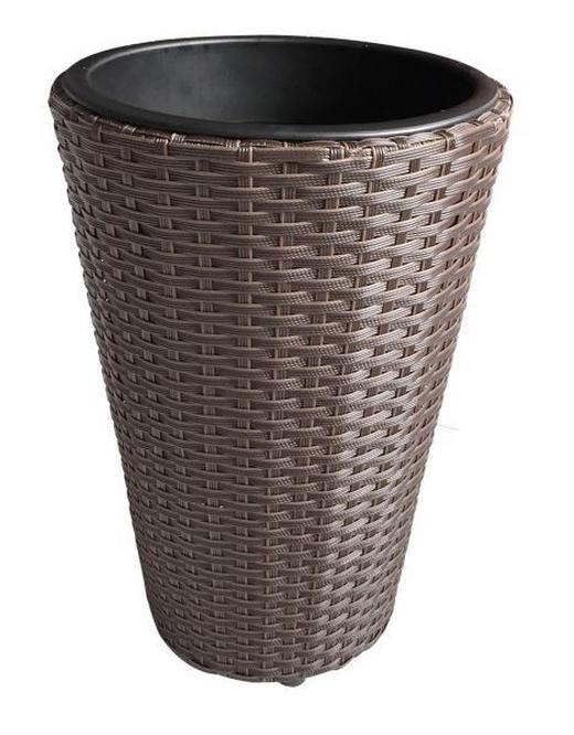 LONAC ZA CVIJEĆE - smeđa, Basics, metal/plastika (28/28/40cm) - Ambia Garden