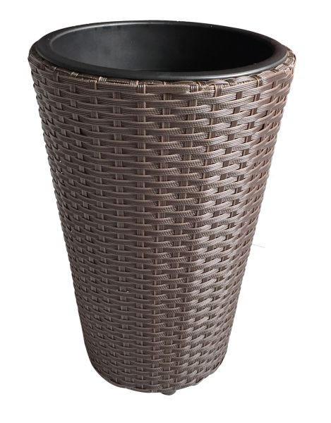 Pflanzentopf - Braun, Basics, Kunststoff/Metall (28/28/40cm) - Ambia Garden