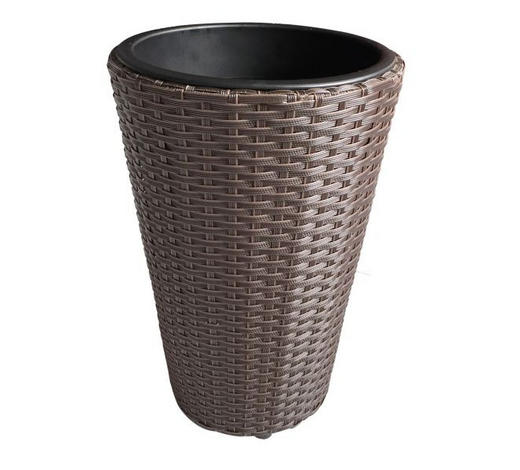 Pflanzentopf - Braun, Basics, Kunststoff/Metall (28/40cm) - Ambia Garden