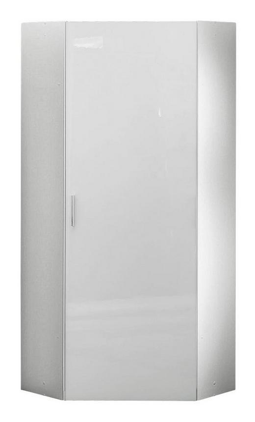 GARDEROBENSCHRANK 80/185/80 cm - Chromfarben/Weiß, Design, Holzwerkstoff/Kunststoff (80/185/80cm) - Xora