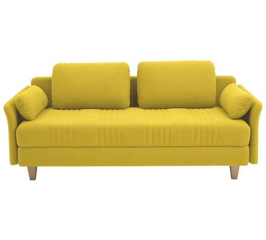 LIEGE in Textil Gelb  - Gelb, Design, Holz/Textil (220/98/96cm) - Joka
