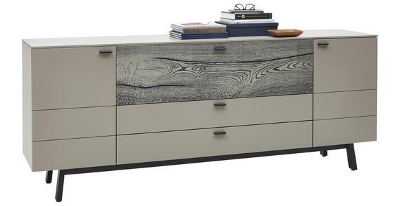 SIDEBOARD 227,5/91,2/49,2 cm - Fango/Edelstahlfarben, MODERN, Holz/Holzwerkstoff (227,5/91,2/49,2cm) - Dieter Knoll