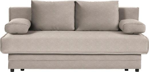 SCHLAFSOFA in Textil Beige - Beige, Design, Textil (200/90/100cm) - Novel