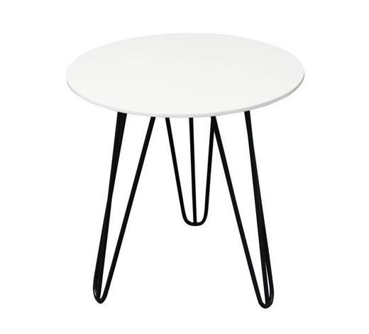 BEISTELLTISCH rund Schwarz, Weiß - Schwarz/Weiß, Design, Metall (40/42cm) - Carryhome