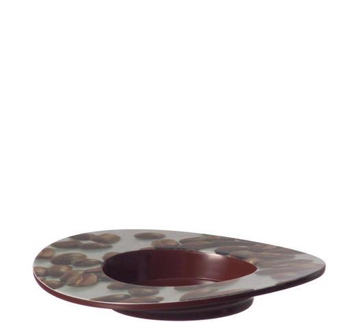 UNTERTASSE  - Braun, KONVENTIONELL, Glas (14cm) - Leonardo