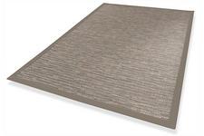FLACHWEBETEPPICH IN-/ OUTDOOR  160/230 cm  Grau - Grau, Textil (160/230cm) - Novel